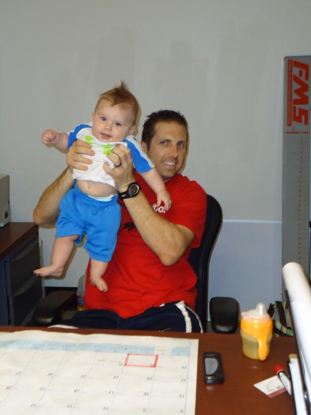Visiting Daddy's Work - Pierce College